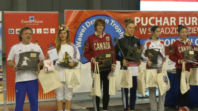 podium cracovie camille nabeth