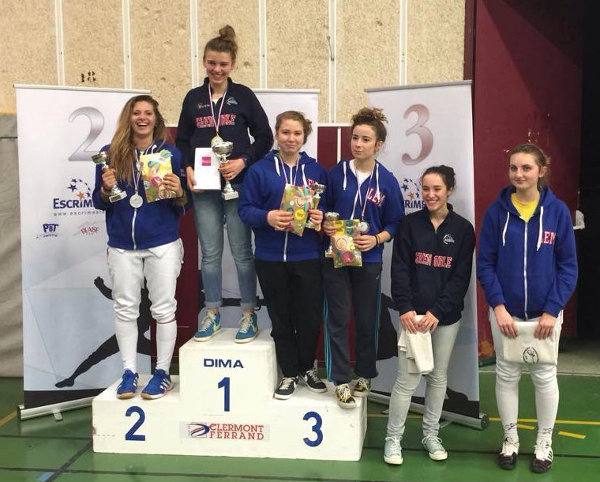 podium fille junior Aubiere web
